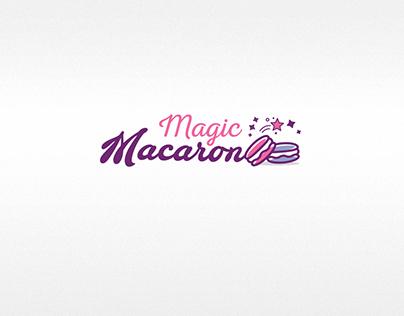 magic macaron logo design