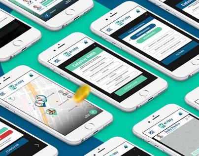 Layout de app para empresa Eeasy - Câmbio