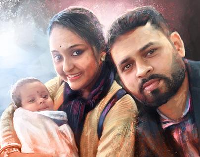 A family. Digital Portrait