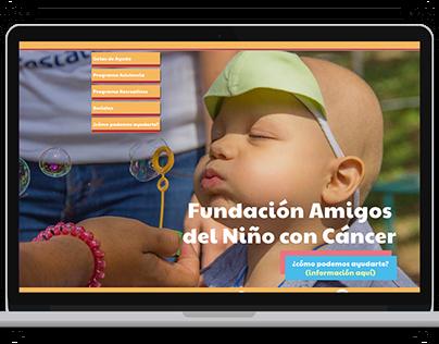 UI design: Amigos del Niño con Cáncer y Gotas de ayuda