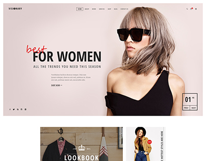 Visionary - eCommerce Shop PSD Template