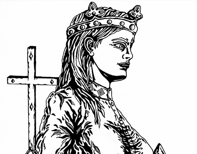 Queen Gisela | pen drawing | 2015