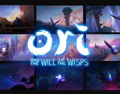 Ori and the Will of the Wisps: cinematics colourscripts