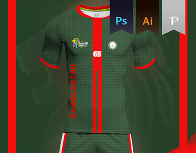 Bangladesh Home Kit 2016 - Kabbadi World Cup