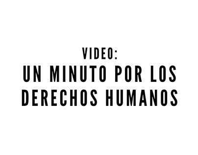 Un minuto por los derechos humanos