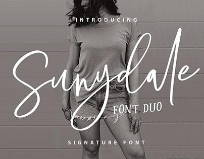 SUNYDALE FONT DUO - FREE SCRIPT & SANS TYPEFACE