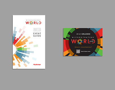 MicroStrategy World 2020 event art direction