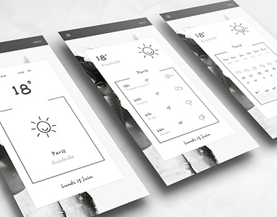Black and White Weather app