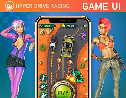 HYPER DRIVE RACING Mobile Game UI