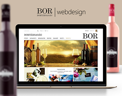 Bortársaság - webdesign