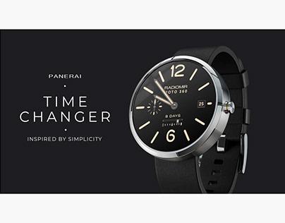 Panerai Radiomir Moto 360 watches. Advertising by Zollo