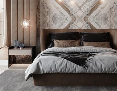 Luxury Bedroom - 3D Project
