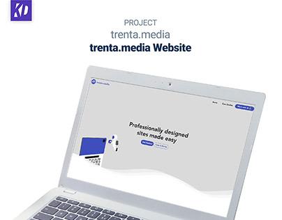 trenta.media 2020 Website + Onboarding