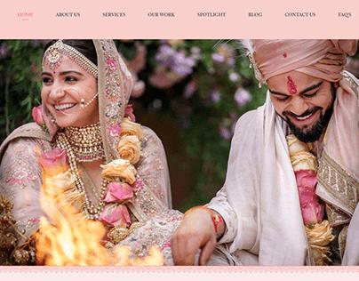 Website UI design for destination weddings planners