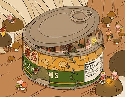 Piglet's Mushroom Hideout