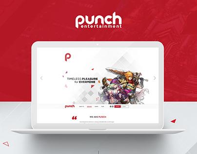 Punch Entertainment Vietnam Website Concept