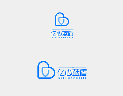 H.S.O.亿心蓝盾标志设计