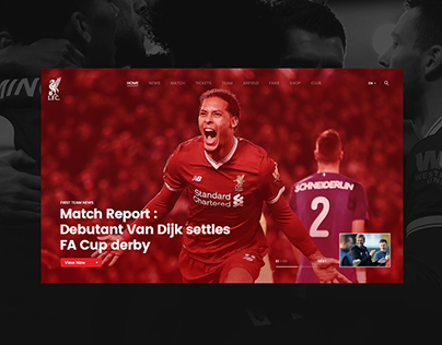 Liverpool FC Website Design Concept
