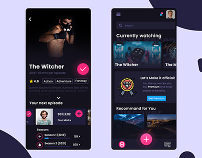 Mobile App Design for Web Series and Movies