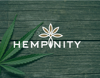 Hempinity CBD Oil Logo Design