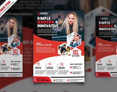 Corporate Flyer Freebie PSD Free Download
