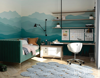 KSD-project for home. Child room for a boy