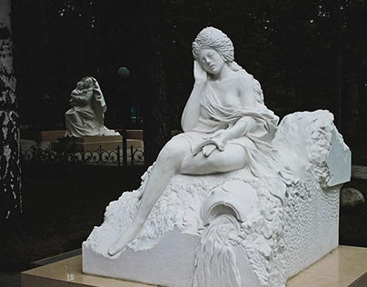 Скульптура из мрамора. Александровский парк