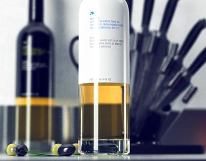 Kolossos Olive Oil - CGI Bottle