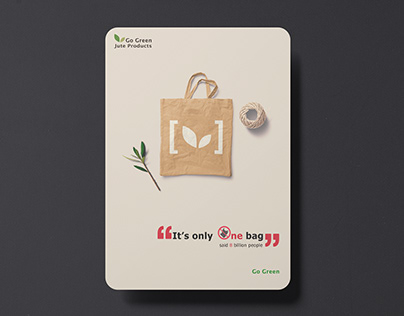 It's only one bag   Go green Jute bag