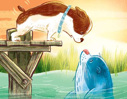 Dog meets Sea Dog