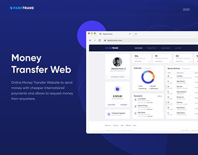 Money Transfer Website - UI/UX Casestudy