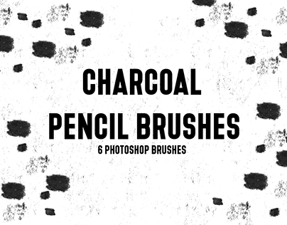 Charcoal Pencil Brushes (6 Photoshop Brushes)