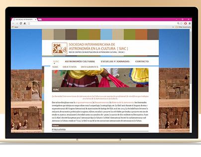 Diseño y maquetación web para la SIAC