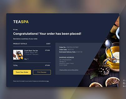Email Receipt Design - TeaSpa