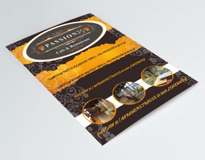 Passion25 restaurant -menù-brochure-business card