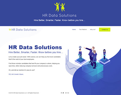 Hr Data Solutions Website UI