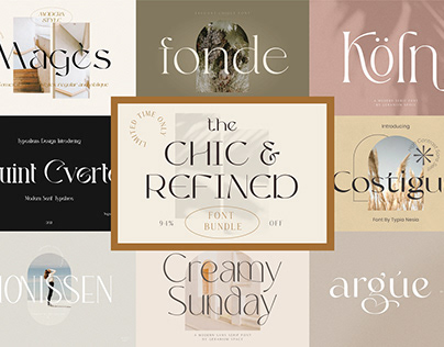The Chic & Refined Font Bundle - $470 Off