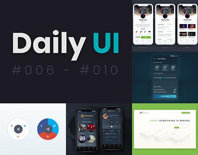 Daily UI | #006 - #010