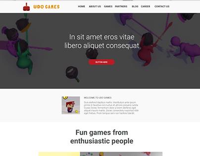 Website Design for a Game Company