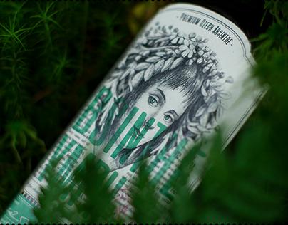 "Absinthe ""Nymph"" label design"