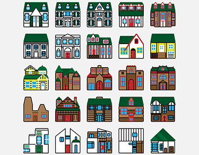 House Exterior Icons