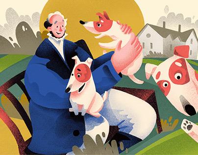 Dog Breeds: Cute Digital Illustrations