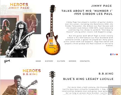 Gibson Guitars-Landing Page Design