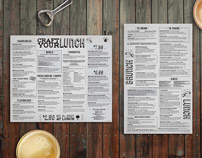 World of Beer - Print & Menu Design