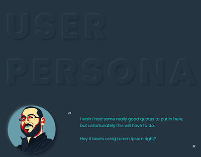 Free User Persona Template for Adobe XD