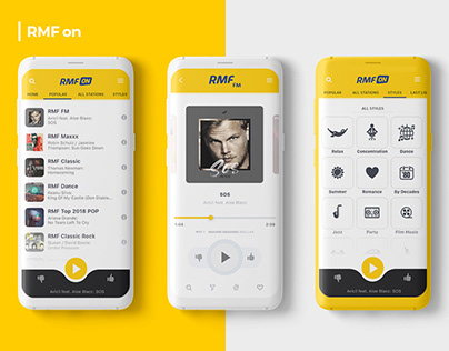 RMF ON / Online Radio App Redesign Concept