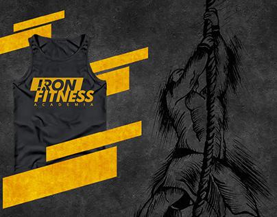 Ilustração e Identidade Visual Iron Fitness