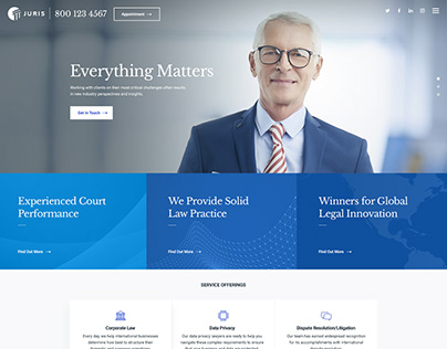 Juris Law WordPress Theme