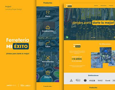 Ferretería MI ÉXITO - Landing Page