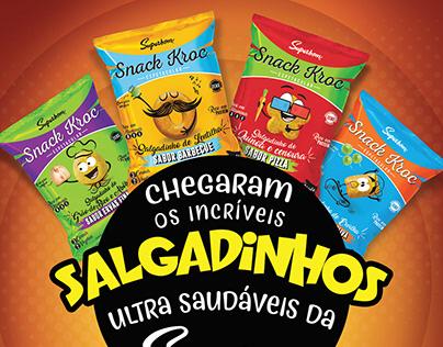 Salgadinhos Saudáveis da Superbom - Snack Kroc